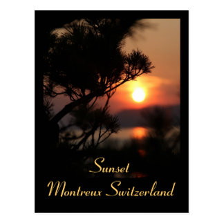 Pôr do sol - Sunset cartão postal