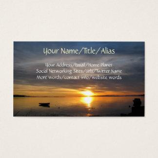 Por do sol tormentoso cartão de visitas