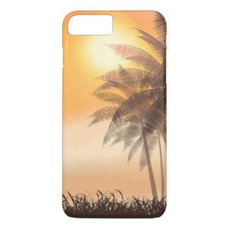Por do sol tropical sereno & capa de telefone das