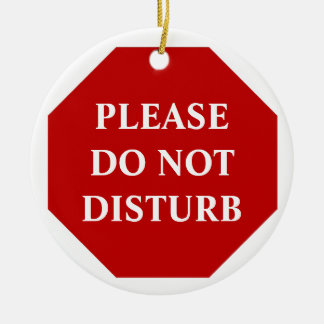 Por favor não perturbe o gancho de porta ornamento de cerâmica redondo