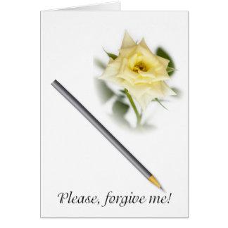 Por favor, perdoe-me cartão comemorativo