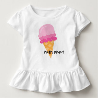 Por favor sorvete cor-de-rosa bonito camisa