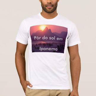 Pôr faz em Ipanema do solenóide Camiseta