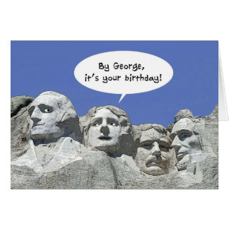 Por George é seu aniversário, cartão do Mt