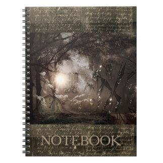"""""""Por muitas vezes seguidas"""" caderno de Steampunk"""