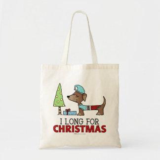 Por muito tempo para o Natal-Dachshund Bolsa Tote