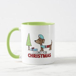 Por muito tempo para o Natal-Dachshund Caneca