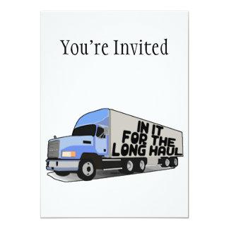 Por muito tempo - transporte por caminhão do convite 12.7 x 17.78cm