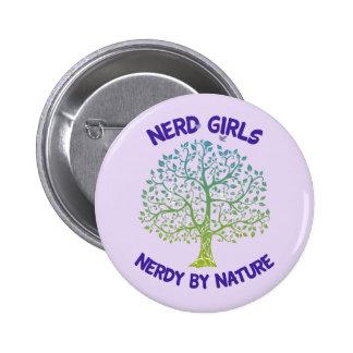 Por natureza botão Nerdy Bóton Redondo 5.08cm