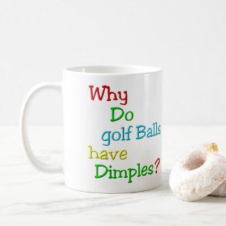 Por que as bolas de golfe têm ondulações? Caneca