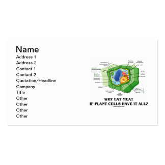 Por que coma a carne se as pilhas da planta a têm cartão de visita