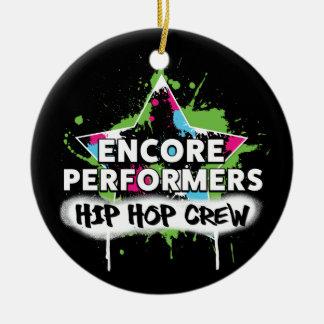 PORCELANA do ornamento da EQUIPE de Hip Hop