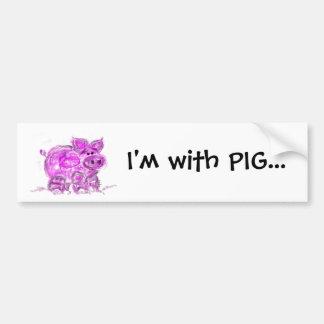 porco adesivo para carro