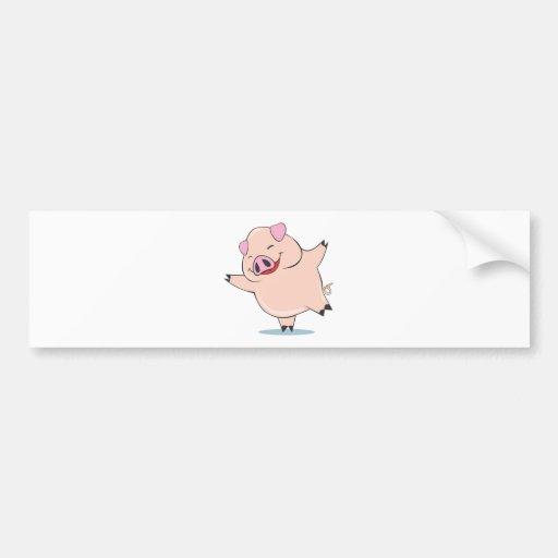Porco alegre da dança adesivos