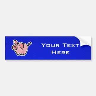 Porco; Azul Adesivo Para Carro