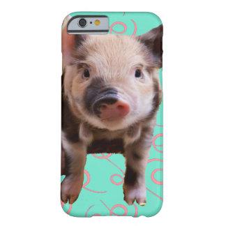 Porco bonito - redemoinhos do azul & do rosa capa barely there para iPhone 6