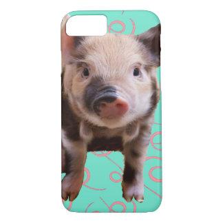 Porco bonito - redemoinhos do azul & do rosa capa iPhone 7