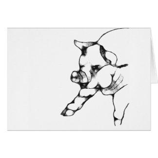 porco cartão comemorativo