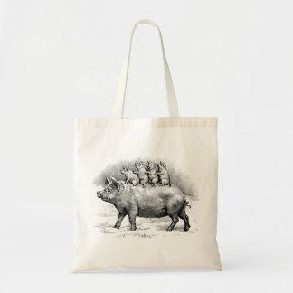 Porco com leitão bolsas