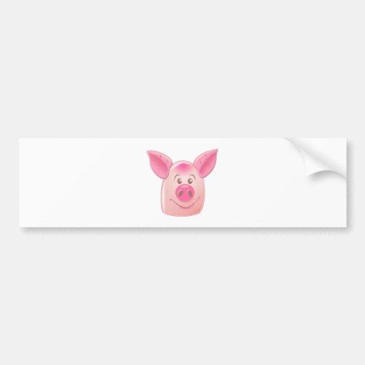 Porco cor-de-rosa adesivos