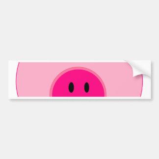 Porco cor-de-rosa bonito adesivos