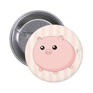 Porco cor-de-rosa carnudo bonito de Kawaii Botons