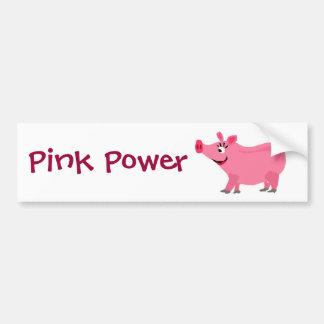 Porco cor-de-rosa impressionante que veste a arte  adesivo para carro