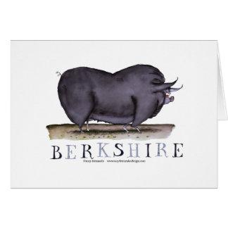 porco de berkshire, fernandes tony cartão comemorativo