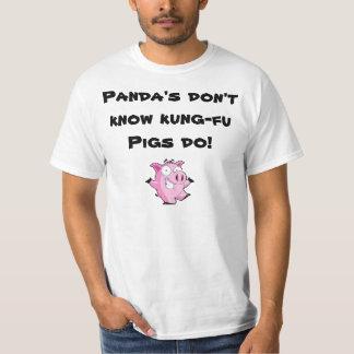 Porco de Kung-fu Tshirt