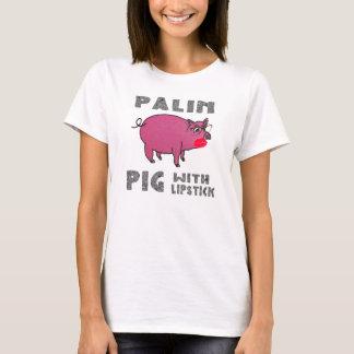 Porco de Sarah Palin com camisa de McCain do batom