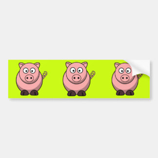 Porco dos desenhos animados adesivo para carro