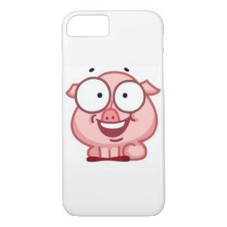 porco engraçado do caso positivo do iPhone 7 Capa iPhone 7