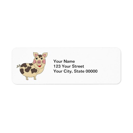 Porco lunático personalizado etiqueta endereço de retorno