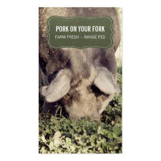 Porco ou porco da escala do produtor da carne de cartão de visita