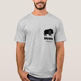 Porco preto para baixo! Clube de caça de Bucknutz Camiseta