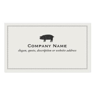 Porco seccionado preto da carne de porco do assado cartao de visita