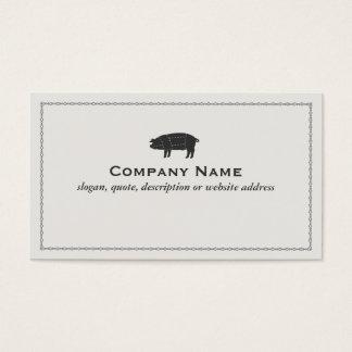 Porco seccionado preto da carne de porco do assado cartão de visitas
