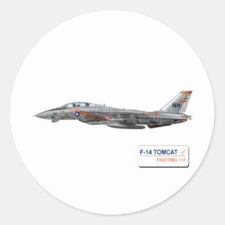 Porcos-da-terra VF-114 Adesivo Em Formato Redondo