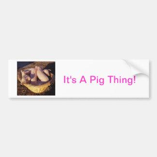 Porcos do leitão adesivo