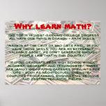 """""""Porque aprenda a matemática?"""" Poster"""
