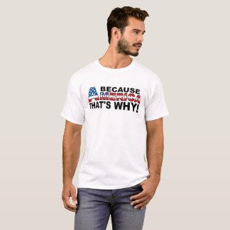 Porque camiseta engraçada de América