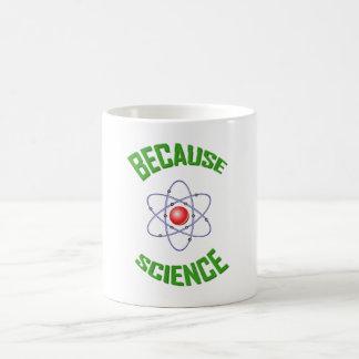 Porque caneca de café da ciência