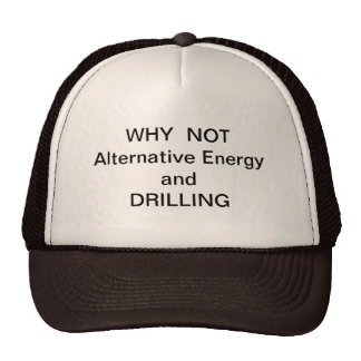PORQUE NÃO perfuração e energia alternativa Boné