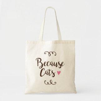 Porque sacola dos gatos bolsa tote