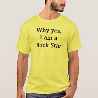 Porque sim eu sou uma camisa da estrela do rock