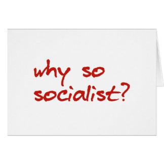 porque vermelho tão socialista do autocolante no v cartões