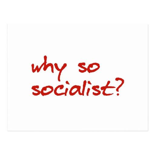 porque vermelho tão socialista do autocolante no v cartão postal