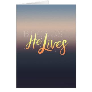 Porque vive, cartão da páscoa