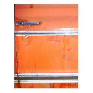 Porta alaranjada do caminhão de Chevy Cartão Postal