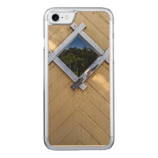 Porta amarela velha capa iPhone 8/ 7 carved